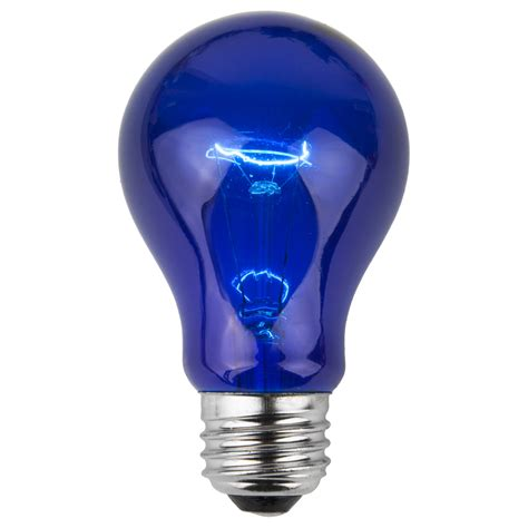 party  sign bulbs  transparent blue  watt
