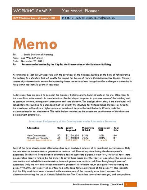 real estate development memo writing  xue wood issuu