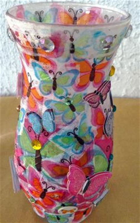 decoupage vases  glass candle holder