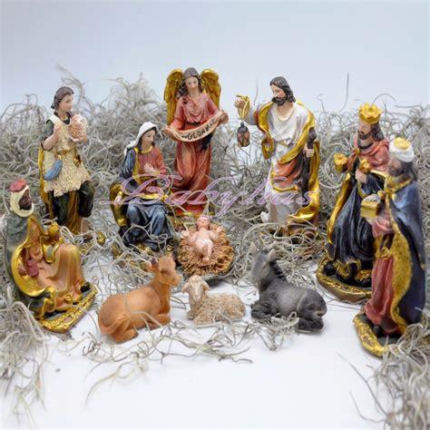 jesus christmas crib statue set buy nativity set figures polyresin figurines baby jesus 11 set ebay