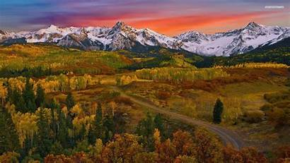 Mountain Autumn Fall Forest Background Wallpapers Desktop