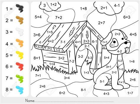 addition subtraction coloring worksheets worksheet