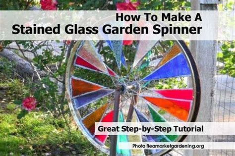 how to make a stained glass l how to make a stained glass garden spinner