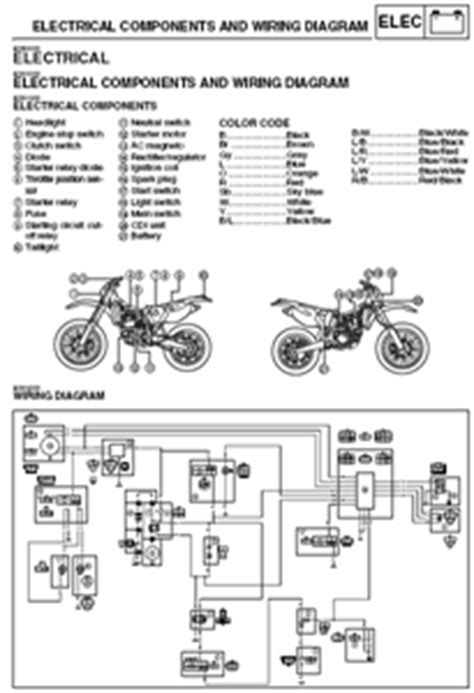 wiring diagram for 2003 wr250f registered model fixya
