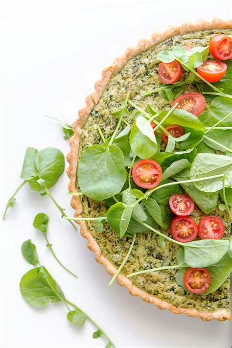 spinach  leek quiche real food  dad