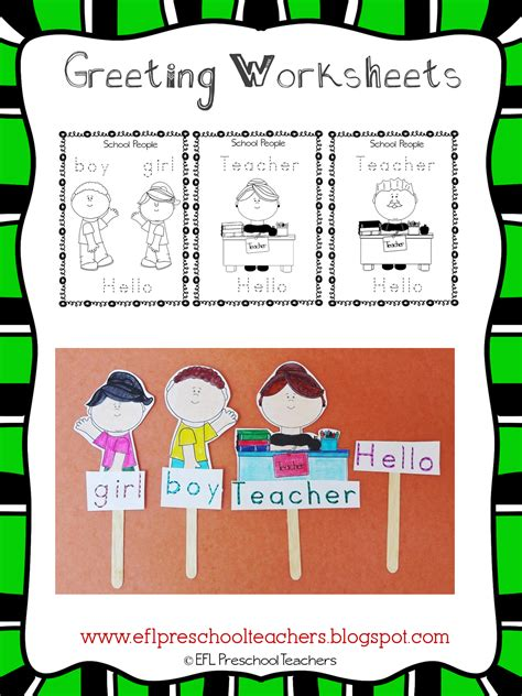 esl efl preschool teachers greetings theme resources for ell