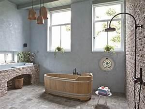 Klinkersteine Für Wohnzimmer : badezimmer einrichten im rustikalen landhausstil ~ Sanjose-hotels-ca.com Haus und Dekorationen