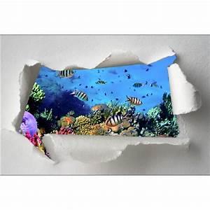 Stickers Muraux Trompe L Oeil : sticker trompe l 39 oeil petits poissons stickers muraux deco ~ Dailycaller-alerts.com Idées de Décoration
