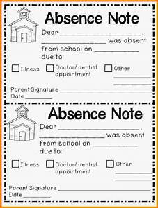 8 school absence note letter template word With absent notes for school templates