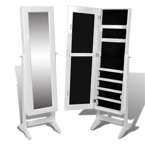 free standing mirror jewelry armoire white free standing mirror jewelry cabinet vidaxl