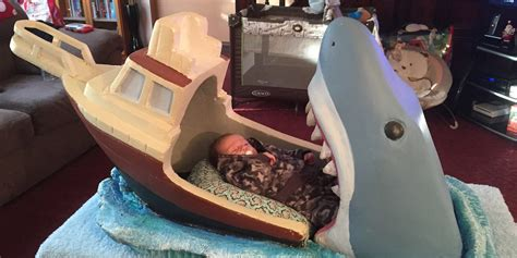 34111 shark crib bedding jaws themed baby crib takes a bite out of the