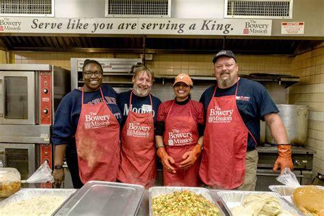 volunteer  nyc food banks shelters soup