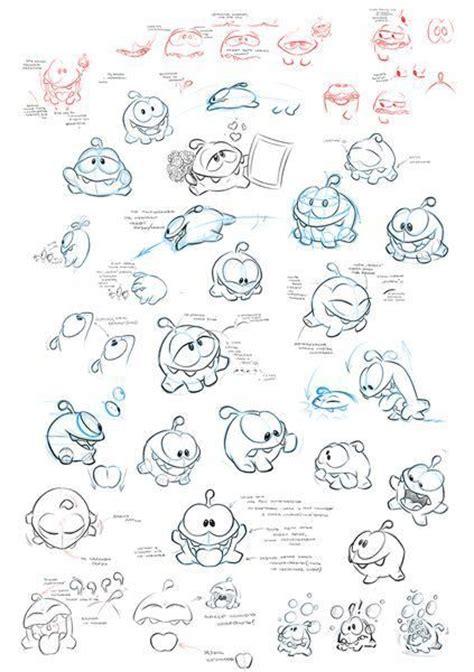 om nom  cut  rope  zeptolab character sketches