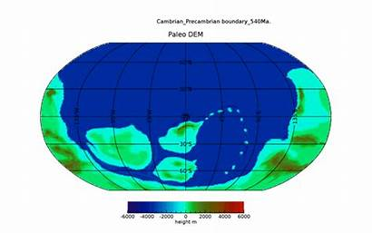 Continents Map Paleo Digital Elevation 2d Resolution