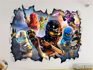 lego ninjago 3d look wall vinyl sticker poster childrens With coolest ninjago wall decals