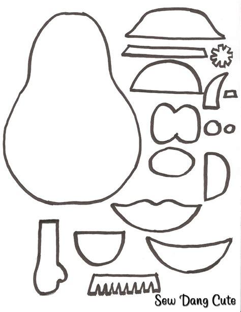 mr potato felt template potato parts coloring pages coloring pages
