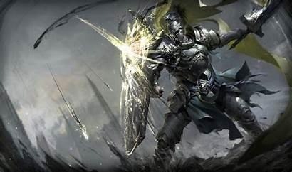Knight Fantasy Sword Shield Warrior Holding Warriors