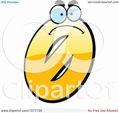 Zero Number Yellow Mad Clipart Illustration Royalty