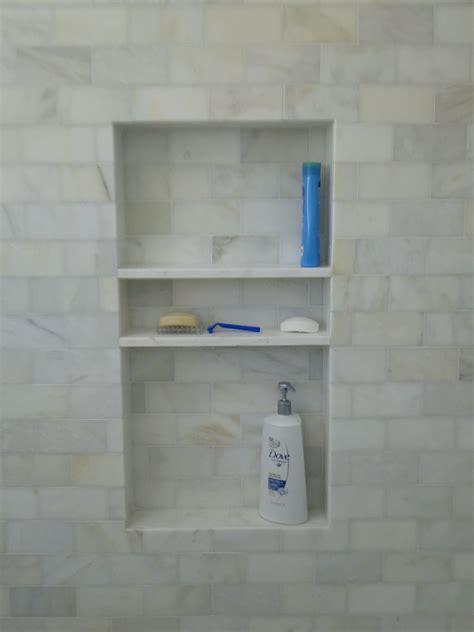 shower niche   height  costco sized shampoo