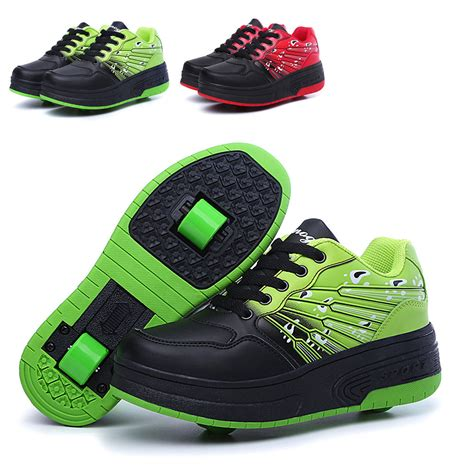 Heelys Kids Retractable Auto Roller Skate Shoes Boys Girls