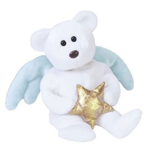 ty beanie baby star  angel bear holding gold star
