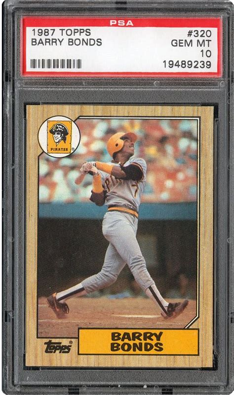 topps barry bonds psa cardfacts