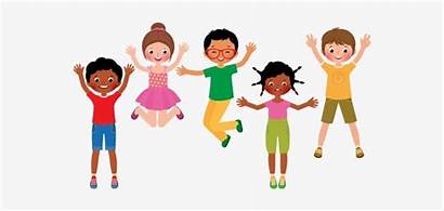 Clipart Fun Children Clip Jumping Talking Listening