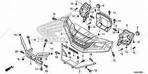 Honda Side By Side 2014 Oem Parts Diagram For Front Grille