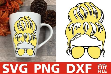 These svgs are totally free, but if you want to help you can spread the word by clicking the red or blue share buttons below. Blonde Woman In Messy Bun svg, Hair Bun svg, Glasses svg ...