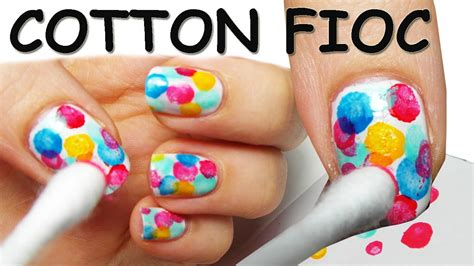 Nail Art Tutorial : Nail Art Tutorial Super Facile Con Cotton-fioc!