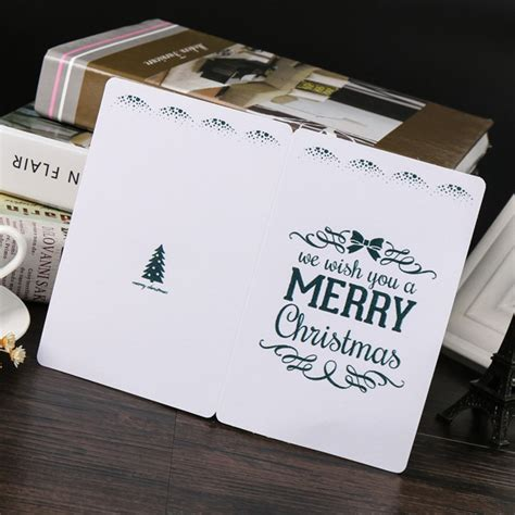 EACH PARTY Folding Type Paper Cards Christmas Invitations