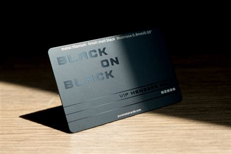 When you use the card, you'll get 1% daily cash back on every purchase. Matt Black Titanium Cards | PURE METAL CARDS