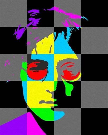 Lennon Pop John Portrait Portraits Project Colors
