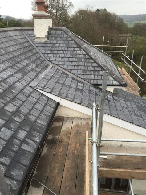 slate  tiling ridge roofing honiton devon