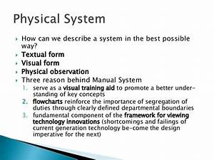 Lecture 19 Physical And Manual System