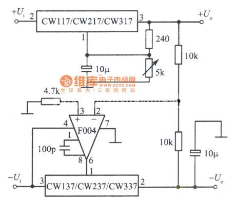Positive Negative Output Voltage Tracking Integrated