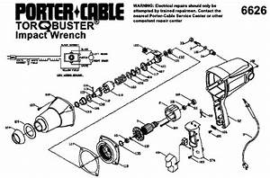 Porter Cable 6626 Impact Tool Parts