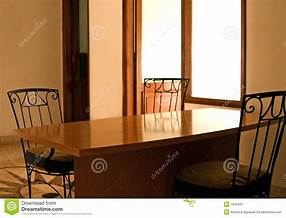 Family Dinner Table Empty