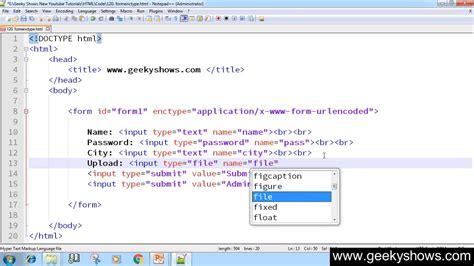 enctype attribute 154 formenctype attribute in html hindi youtube