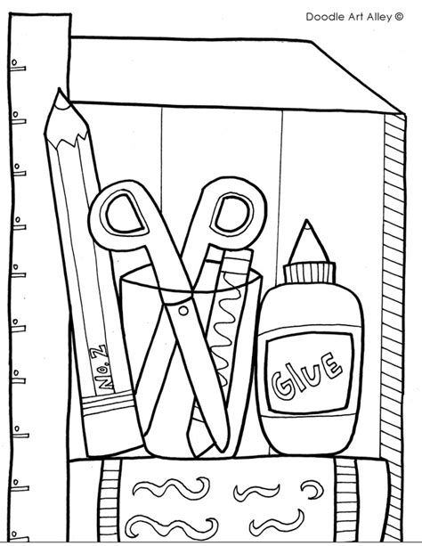 Classroom Coloring Pages School Objects Coloring Pages