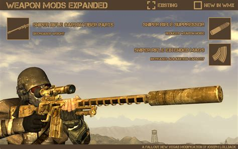 fallout nv console commands weapon mods expanded wmx fallout new vegas mods