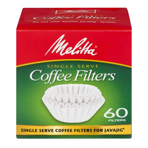 They usually have great deals on a lot of their products and their return policy is great too. Melitta Single Serve Coffee Filters for Javajig, 60 Ct - Walmart.com - Walmart.com