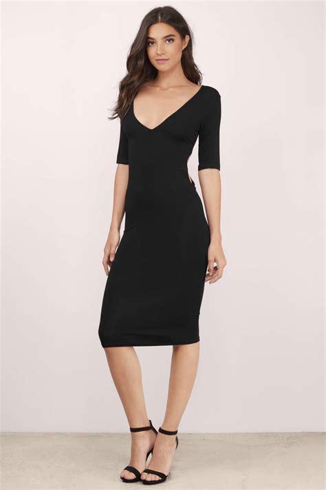 black dress twist  dress  sleeve black dress