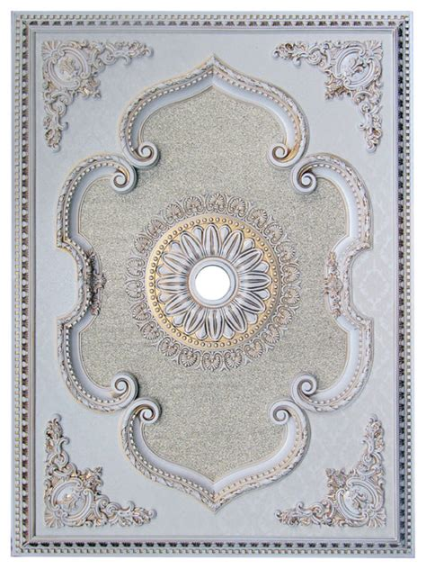 ceiling medallion rectangle collection antique white