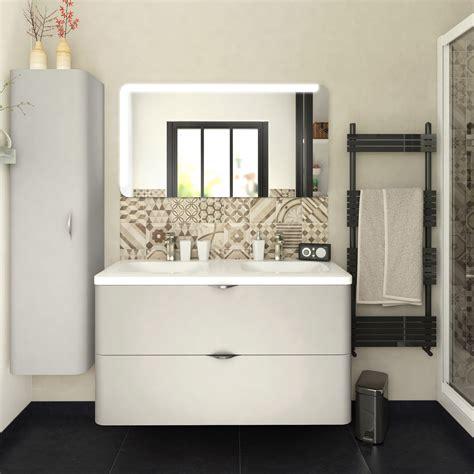 facade meuble de cuisine leroy merlin meuble de salle de bains de 100 à 119 blanc beige