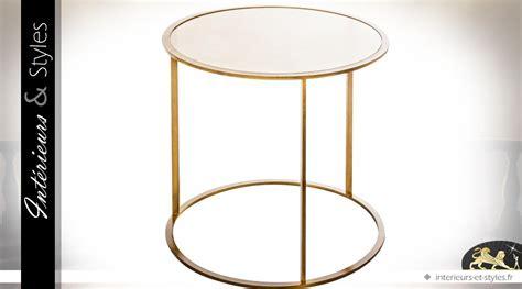 table d appoint fer forge table d appoint ronde fer forg 233 finition dor 233 e et plateau miroir int 233 rieurs styles