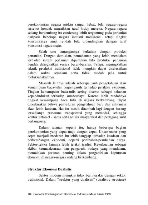 Ekonomi Pembangunan dan Perekonomian Indonesia