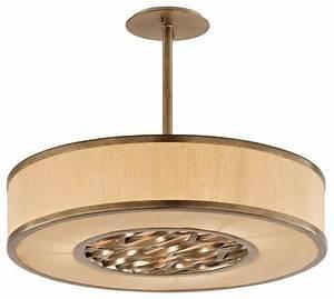 Troy lighting f bronze leaf serengeti light drum