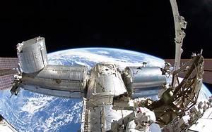 1 Space Station Earth Planet Fisheye sci fi science tech ...