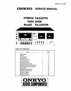 Download Onkyo Service Manual Ta